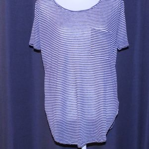 Forever 21 Striped Tee with Front Pocket